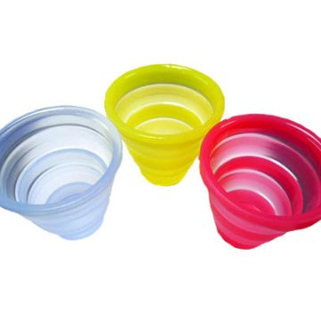 250ml Food Grade Collapsible Cups Collapsible Silicone Mug