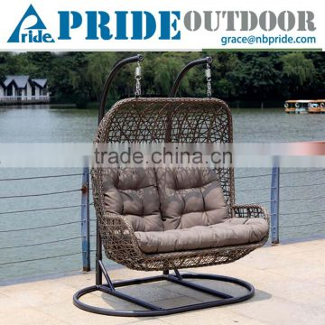 Luxury Outdoor Furniture Double Seat Hanging Indoor Swing Rattan Egg Chair  Living Room Swing Chair Quality ...