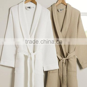 Promotional Hilton Hotel Cotton Quilted Mens Silk Bathrobe                                                                         Quality Choice