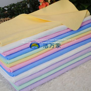 Household Cleaning Drying Lint Free PVA Chamois Towel