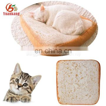Cartoon custom made pet plush bread cushion for cat sleeping