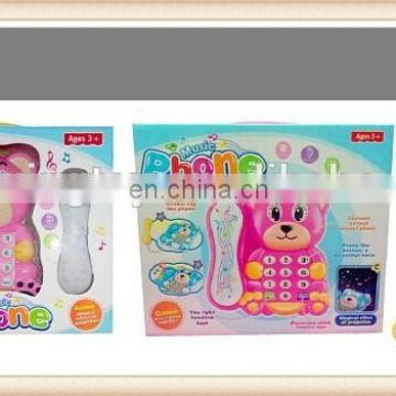 Projector plastic baby phone toys with music and light