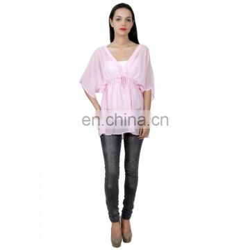 Pink Colour Poncho Top for girls