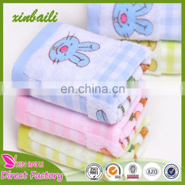 Wholesale double layers cartoon designs 100% cotton baby towel