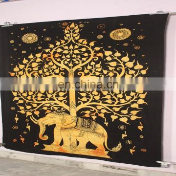 Digital Printed Wholesale Wall Hanging Elephant Tapestry