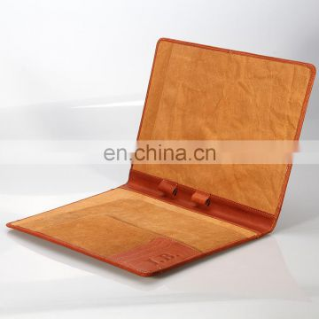 Manufacturer Multi-function custom Genuine Leather A4 Padfolio