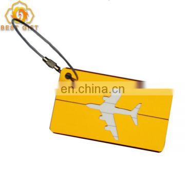 New Design Cheap Blank Aluminum Airplane Shaped luggage Tags