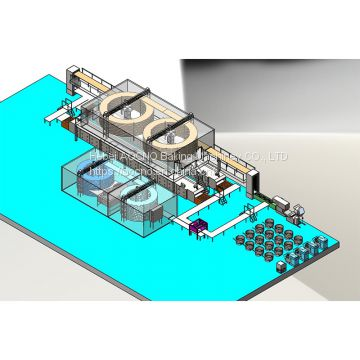 Full automatic hamburger bun production line