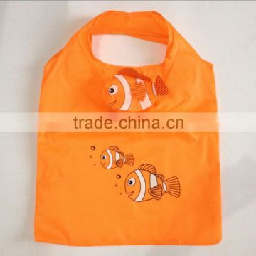 ODM design welcome frog shape foldable polyester shopping bag