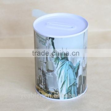 Popular batman coin metal ballot tin can piggy bank wedding tin gift box tin case saving box