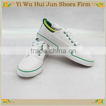 2016 Factory Direct wholesale white canvas shoes in vulcanized soles ,china cheap rubber white casual canvas men shoes