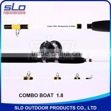 1.65M/1.8M/2.0M fishing boat rod & boat reel combo packed in oxford carrying bag