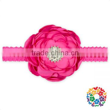 12 Color Diamond And Flower Baby Shabby Hair Accessories Girl Headband