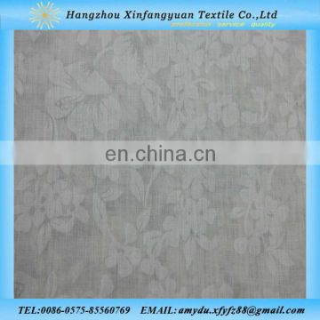 80% polyester 20% cotton white burnout fabric