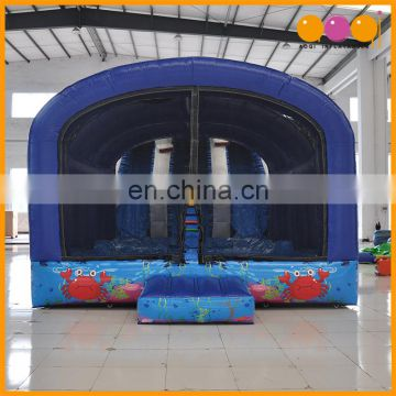 Amusement park polar bear inflatable water slide with pool for sale
