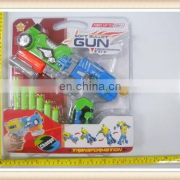 plastic eva foam soft bullet gun transformable robot toy