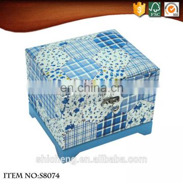 Musical antique mirror jewelry box