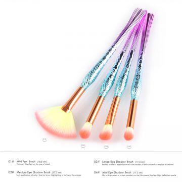 4pcs Wholesale Beauty Supply Distributors Diamond Eyeshadow Makeup Brush  Cosmetics eyebrow makeup brushes