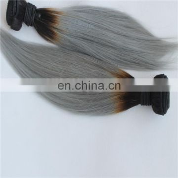aliexpress dropshipping Silver Grey brazilian Ombre color dye Human Hair Extensions Straight Virgin Hair Grey Weave