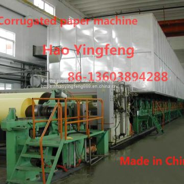 Model 1575 long screen high strength corrugated paper machine