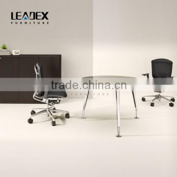 Office Table With Glass Top Round Metal Frame Office Conference Table ...