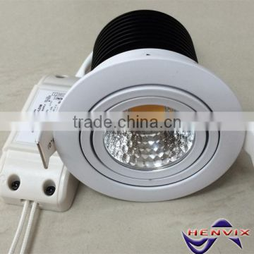 COB 7W dimmable led lux down light, 3000K downlight led