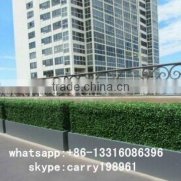 LXY072016 manufacturer wholesale artificial green fence high quality artificial boxwood hedge with pots