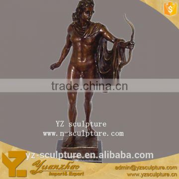 Decorative brassreligious Indian hunter statue BFSN-D042A