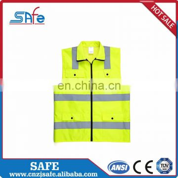 Cheap factory price reflective hi vis safety yellow fluorescent jacket