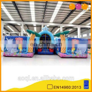 2015 new design much fun excellent quality sea world inflatable bouncer obstacle