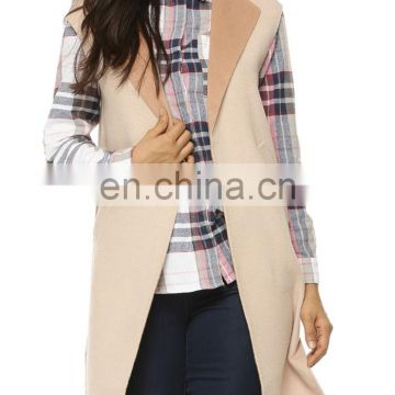 Beautiful sleeveless wool coat for women