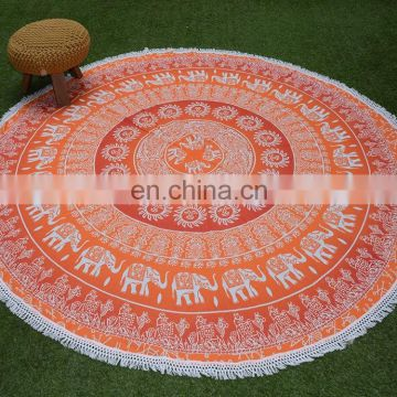 Roundie Table Cover Blanket Tapestry Round Printed Beach Towel Tablecloth