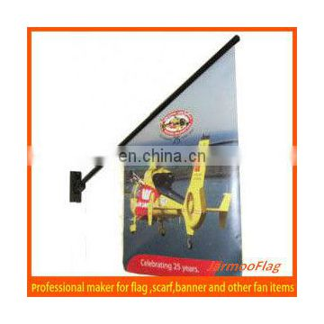 hot outdoor advertising wall mounted banner and pole
