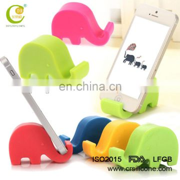 Mini cute elephant silicone phone stand animal phone stand holder phone mobile holder