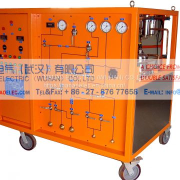 NANAO ELECTRIC Manufacture NALH mobile SF6 gas recovery inflatable test device