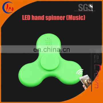 2017 Glow in the Dark of Led Finger Fidget Hand Spinner Bluetooth