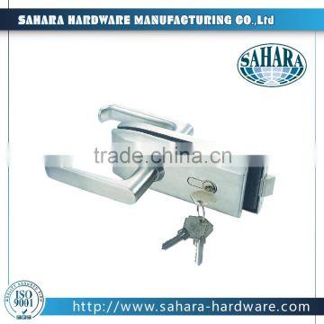 High Quality Ft 038 Single Sliding Glass Door Key Locks Frameless