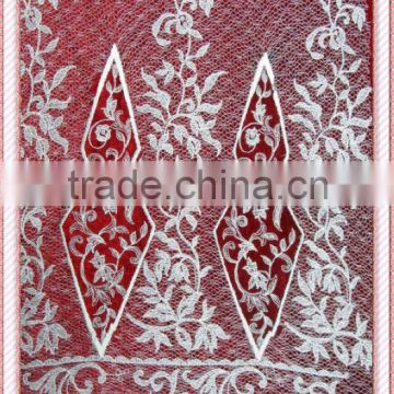 Guipure bridal lace fabric