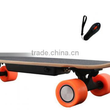 2016 New arrival!Bamboo Fiber Glass material 4wheels electric skateboard motor hoverboard for adult