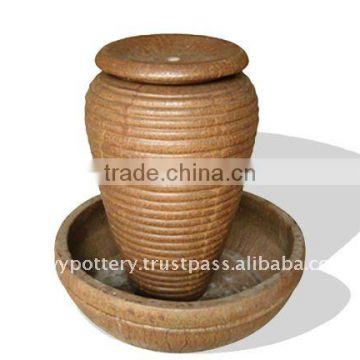 Ceramic fountain, outdoor garden fountain QZ