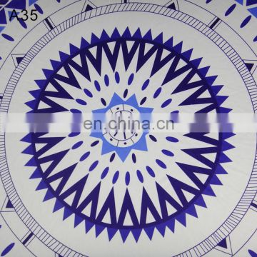 Custom size microfiber round beach towel on alibaba