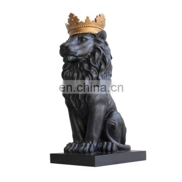 Black Lion King Statue For Business Gift