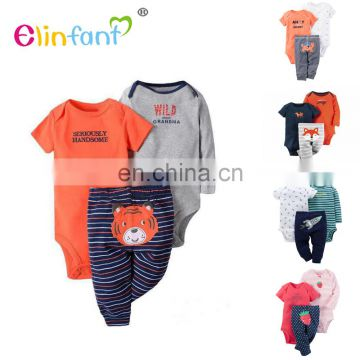 Elinfant New Design Wholesale Top Quality organic Comfortable Baby Clothes From China