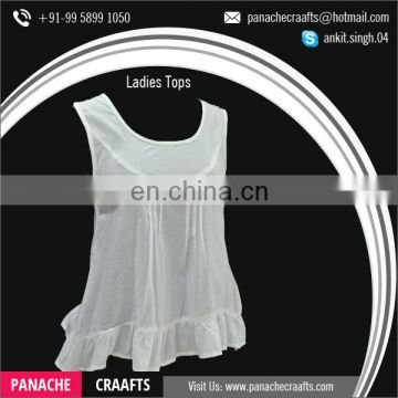 Sleeveless Cotton Women Tops Available for Sale