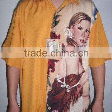 silk digital printed garment