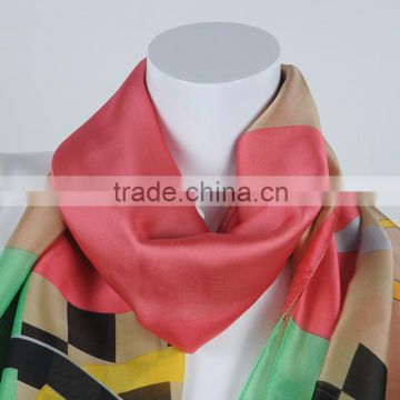 Chinese silk fabric office lady cheap italian silk scarf wholesale Spring scarf magic silk scarves for dyeing