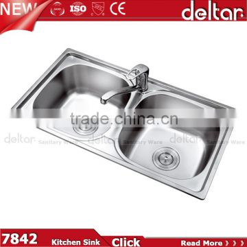 vanity top deep double kitchen sink supply China round/square kitchen sink two hole ...  sc 1 st  find quality and cheap products on China.cn & vanity top deep double kitchen sink supply China round/square ...