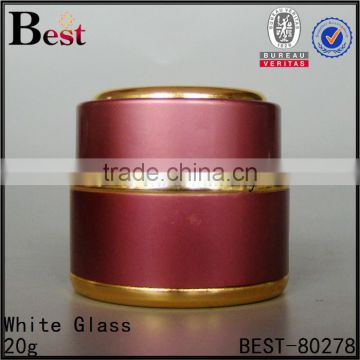 white silver red blue yellow black glass aluminum jar aluminum cream jar cosmetic metal container