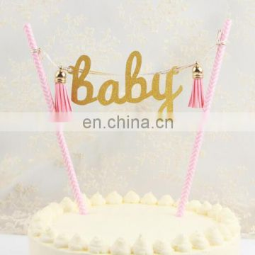 Lovely Blue and Pink BABY Paper Cake Bunting Birthday Cake ...