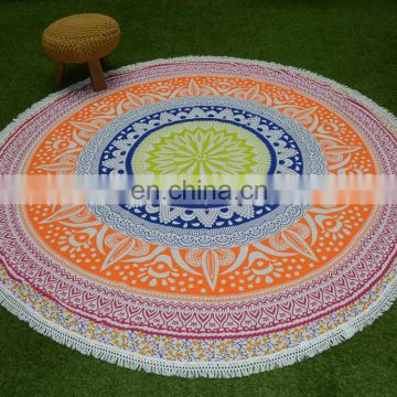 Roundie Mandala wall hanging Tapestry Round Hippie beach Throw Blanket Decor Cotton Tapestries